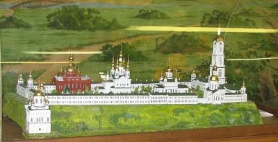 Макет саровского монастыря в городском музее. Автор Г.Д. Куличков
