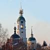 Колокольня, храм Серафима Саровского и угловая башня