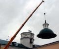 Установка купола угловой башни