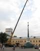 Первая попытка установки купола на угловую башню